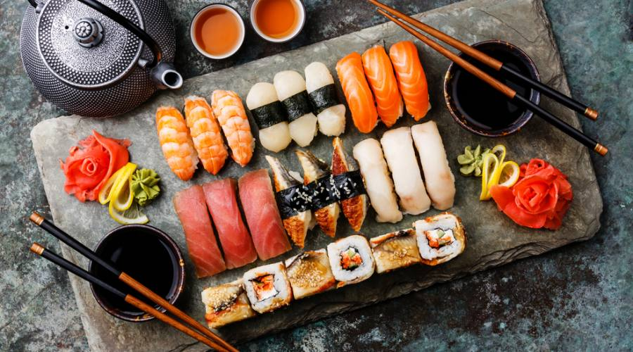 Prelibatezze di sushi