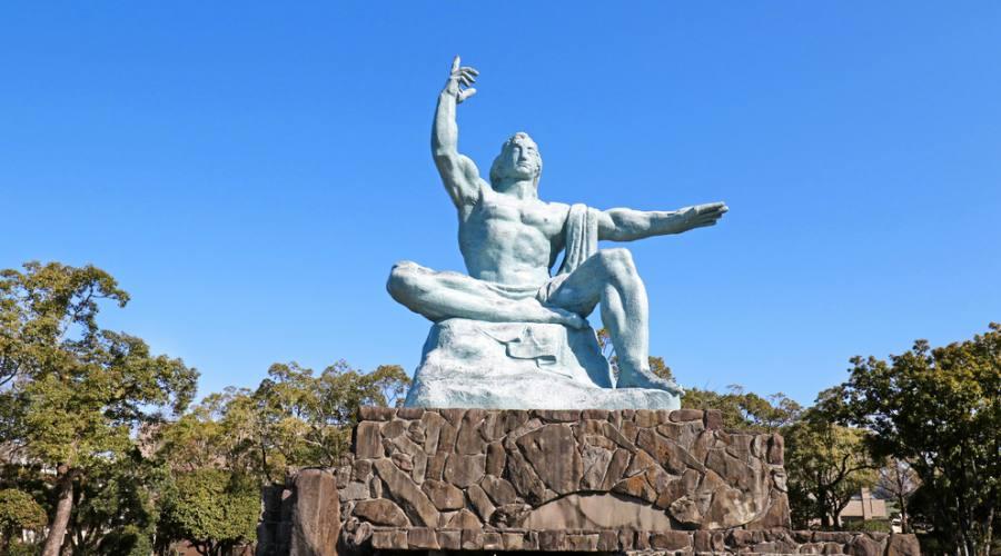 La statua della Pace a Nagasaki