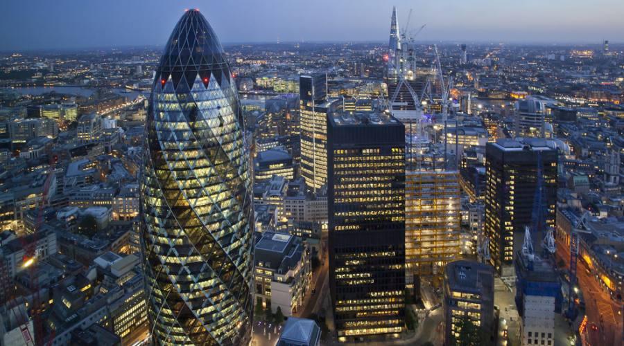 Londra panorama della City