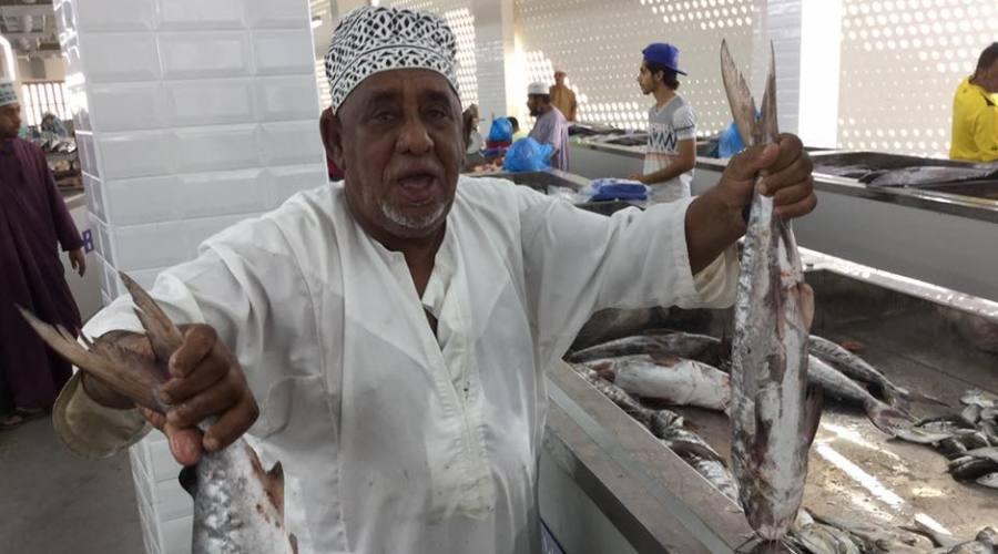 Il mercato del pesce a Muscat