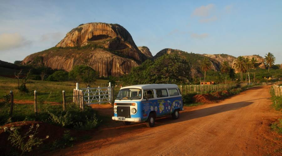Parco Statale Pedra da Boca e minivan dedicato ai trasferimenti