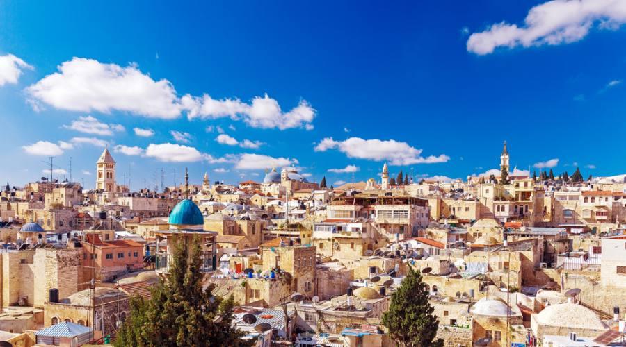 Panorama sulla Città Vecchia di Gerusalemme