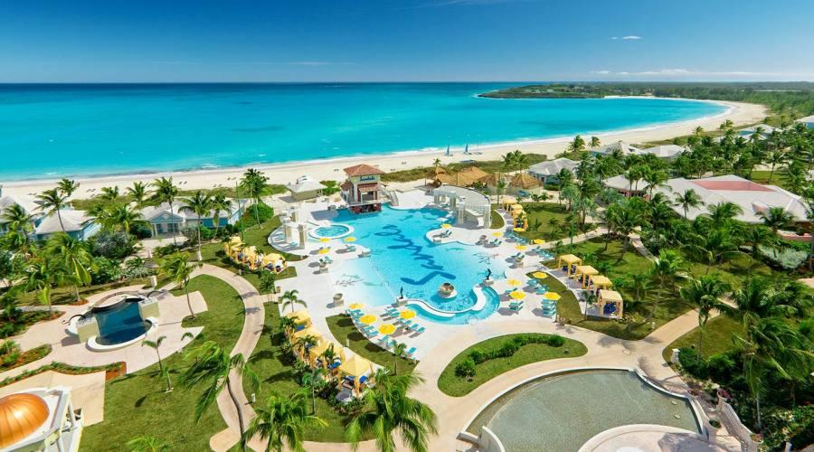 Sandals Emerald Bay Resort visto dall'alto