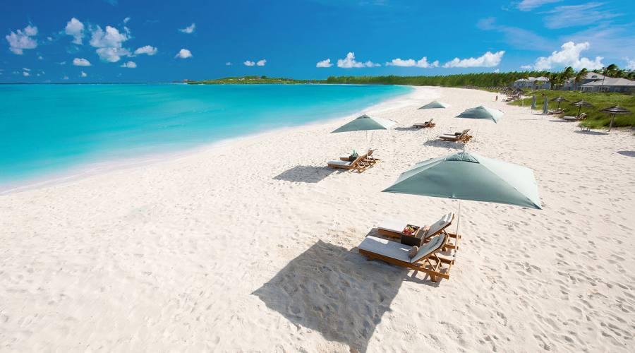 La spiaggia del Sandals Emerald Bay Resort