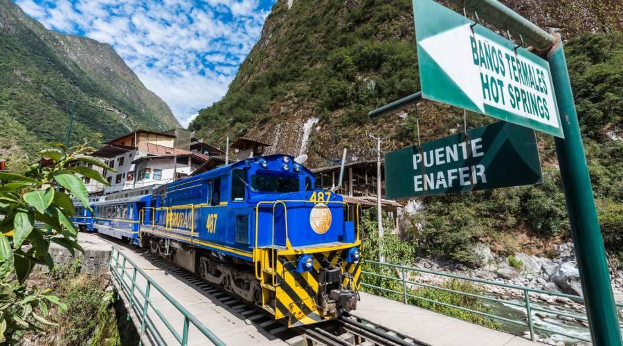 Il treno per Aguas Calientes