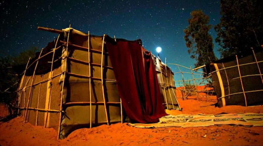 Tente dans les dunes deMerzouga