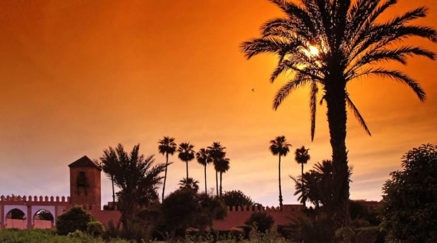 Le coucher du soleil à Marrakech