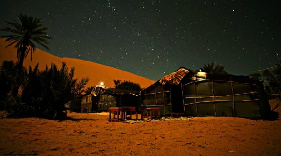 Tente dans les dunes de Merzouga