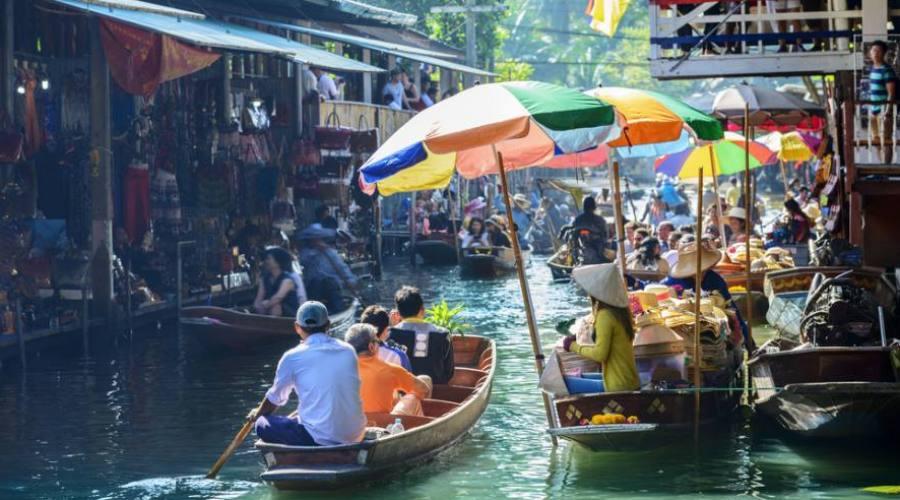 Marché flottant de Damnoensaduak