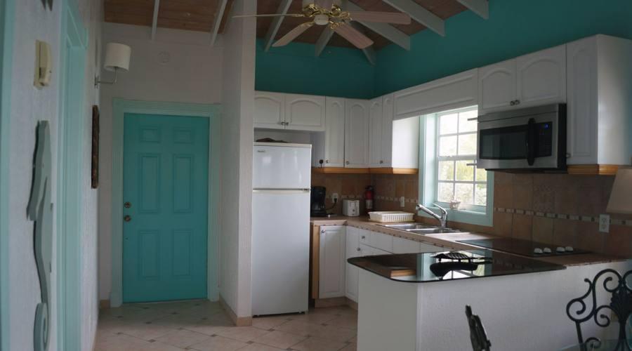 La cucina attrezzata di uno dei Cottage