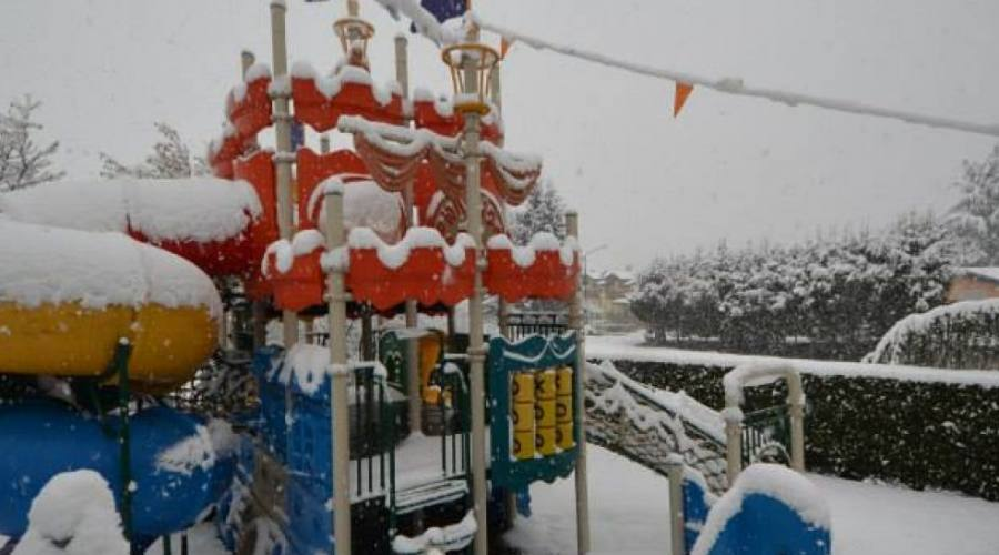 Galeone con la neve
