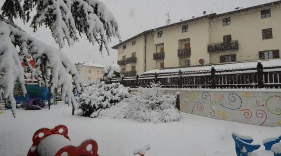 Hotel esterno invernale