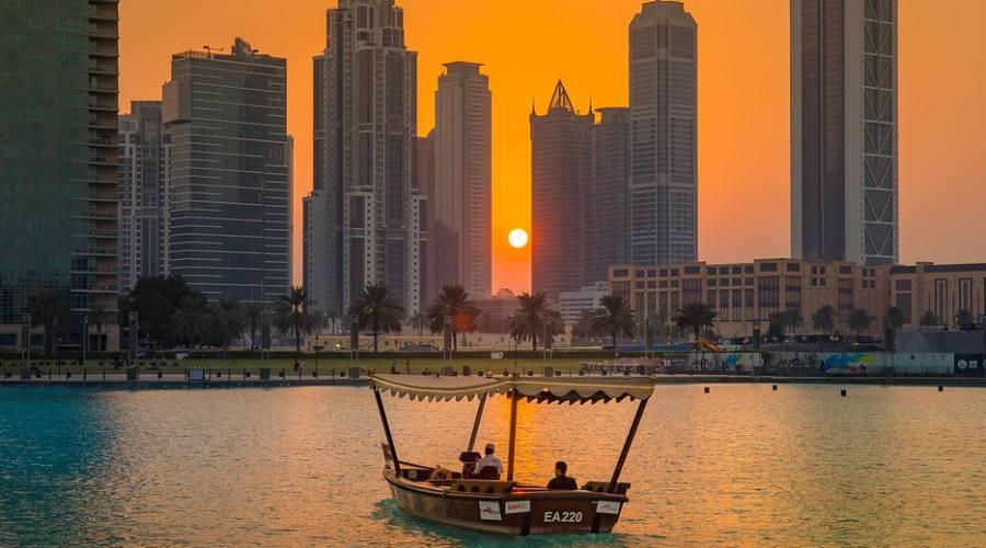 Tramonto a Dubai