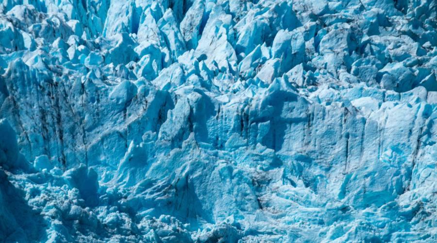 Particolare del ghiacciaio