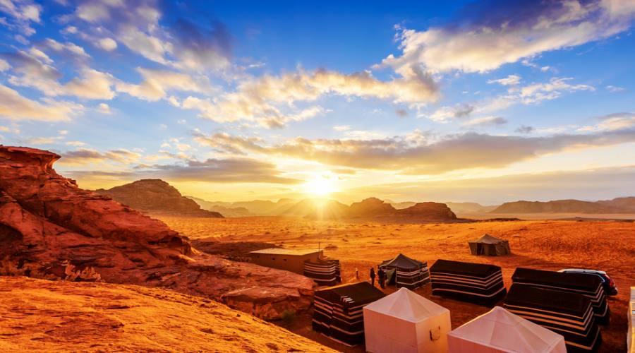 Campo Tendato deserto del Wadi Rum