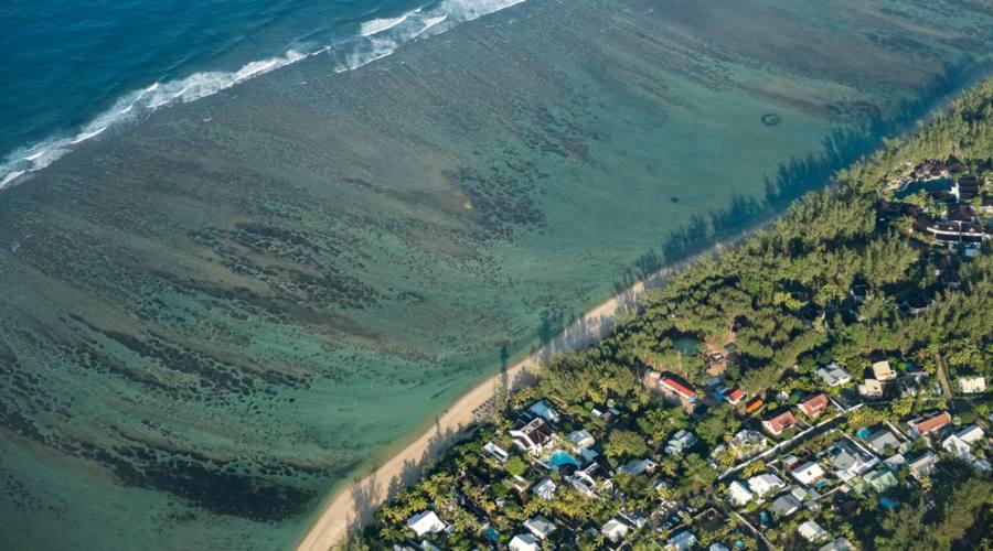 Reunion: la laguna vista dall'alto