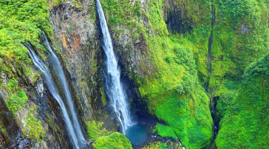 Reunion: Cirque di Salazie, cascate della foresta pluviale