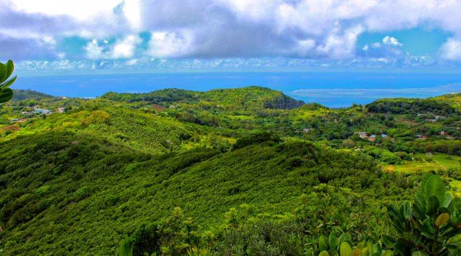 Rodrigues: vista panoramica dal Mount Limon