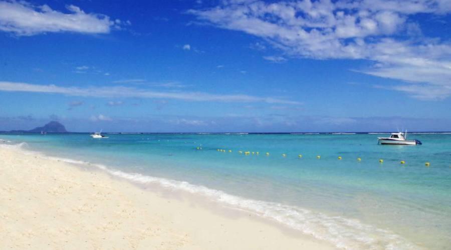 Mauritius: spiaggia di fronte al Pearle Beach Resort