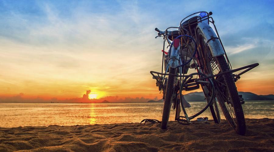 bici in spiaggia a Nha Trang