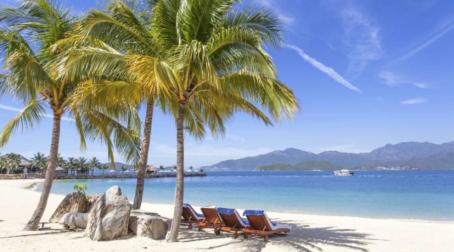 spiaggia a Hon Tre Island