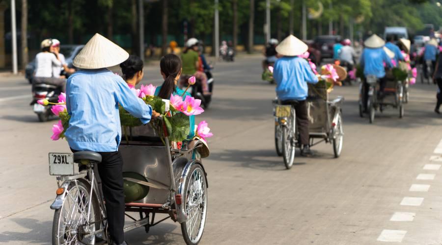 bici nelle vie di Hanoi