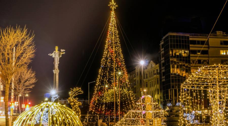 Sofia, le luci del Natale