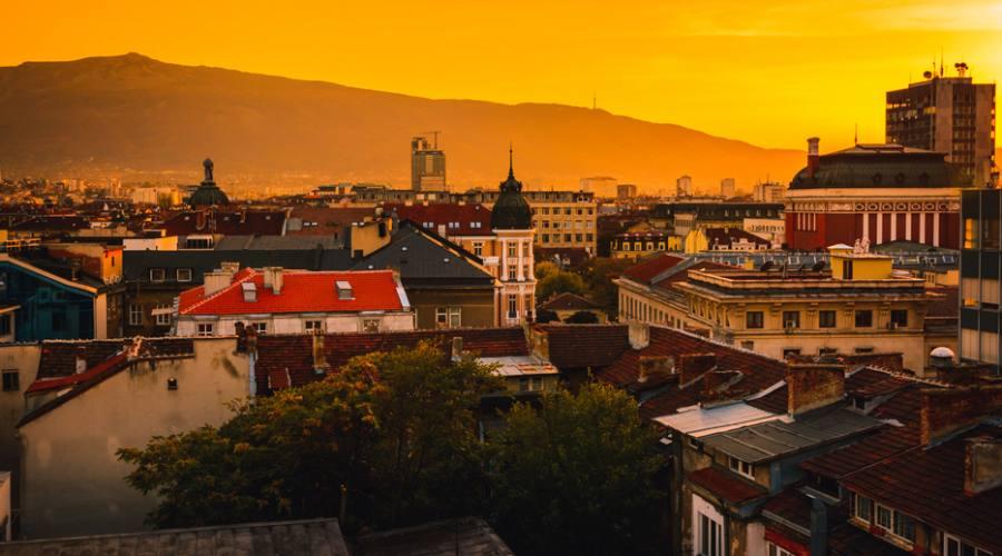 Sofia, al tramonto
