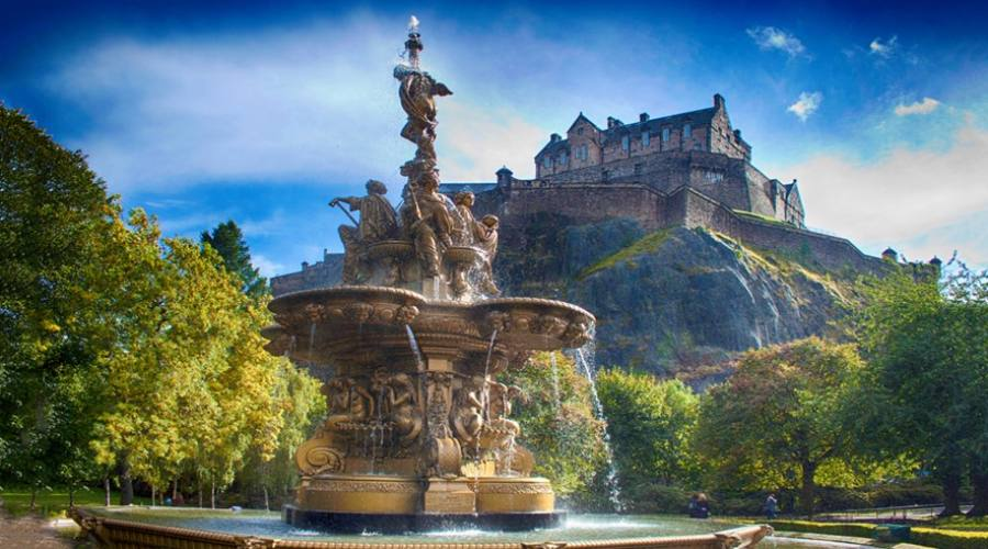 Castello di Edimburgo Panoramica