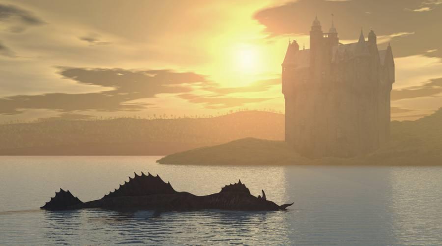 Nessie a Loch Ness