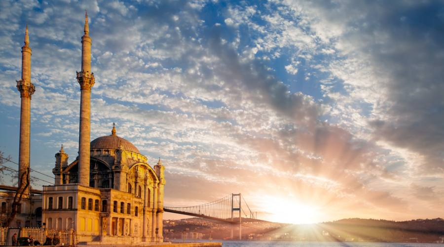 Moschea Ortakoy e il ponte di Bosforo