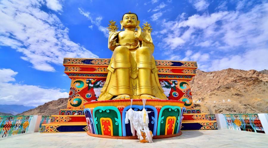 Likir Gompa - Budda d'oro