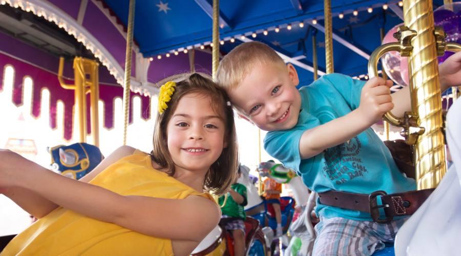 Bambini al Parco divertimenti