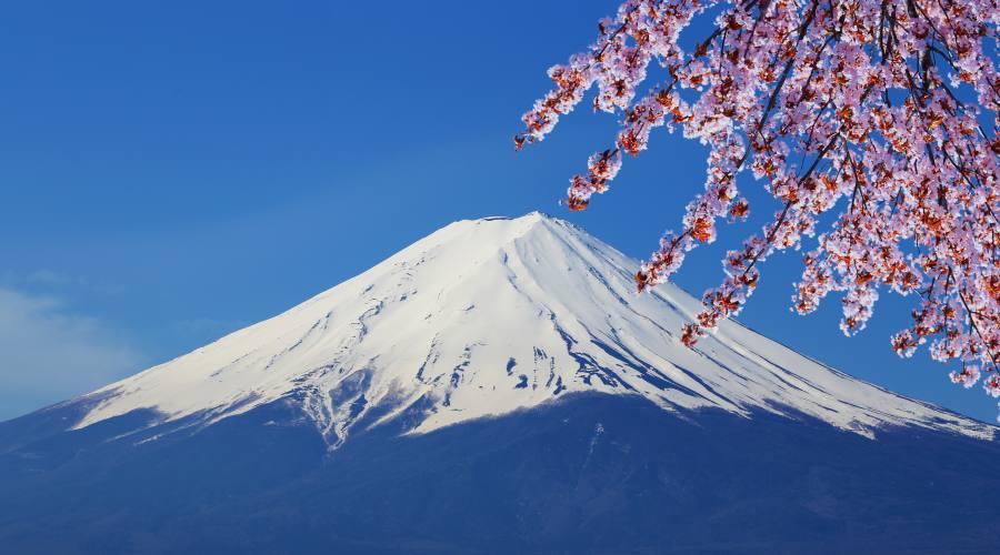 Il Monte Fuji dal Lago Kawaguchi