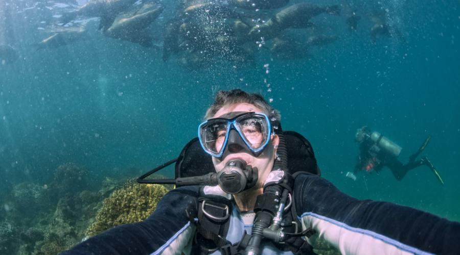 Selfie sott'acqua