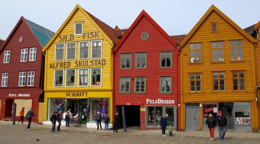 Bergen case di legno al porto