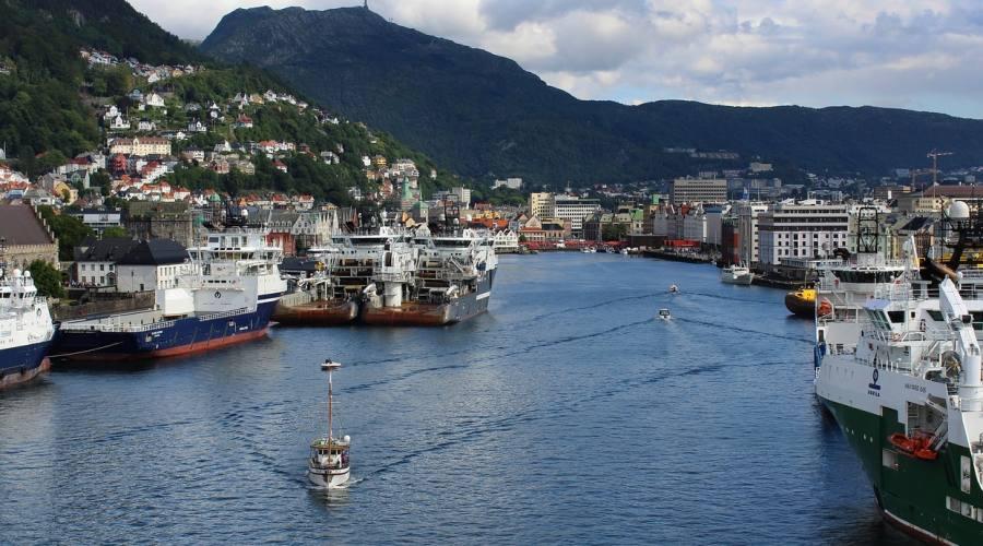 Bergen ingresso al porto
