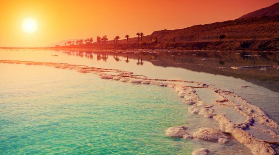 Tramonto sul Mar Morto