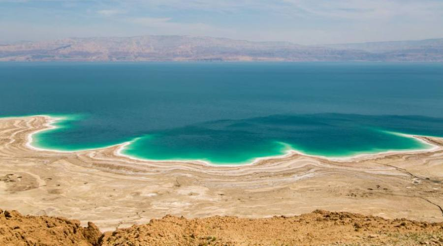 panorama deserto e Mar Morto