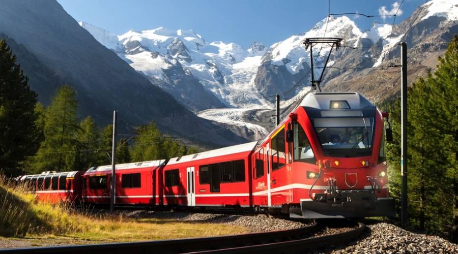 Vista su Glacier Morteratsch