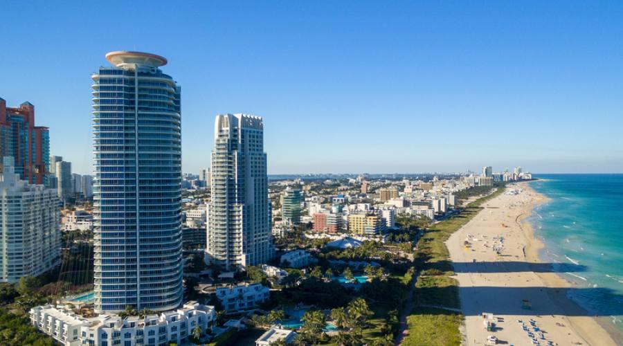 Miami Skyline dall'elicottero