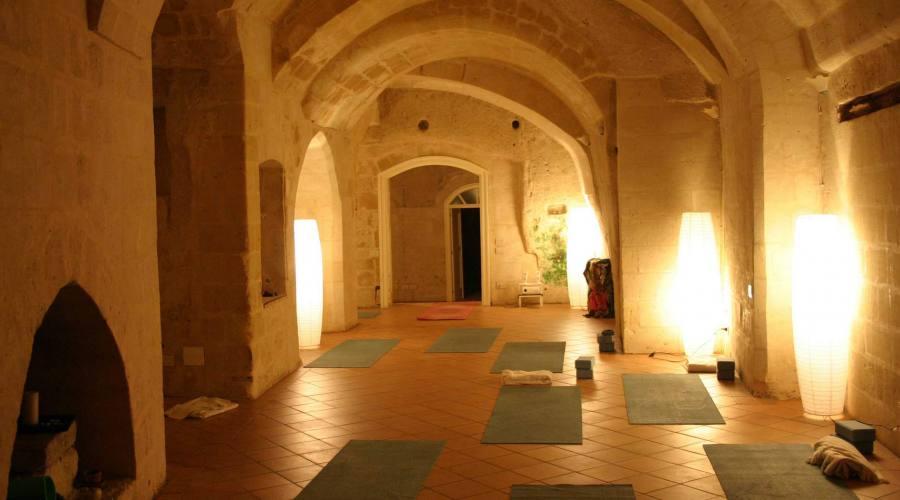 Sala yoga e meditazione nei Sassi
