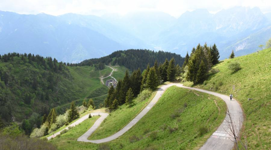 Strada panoramica in bici