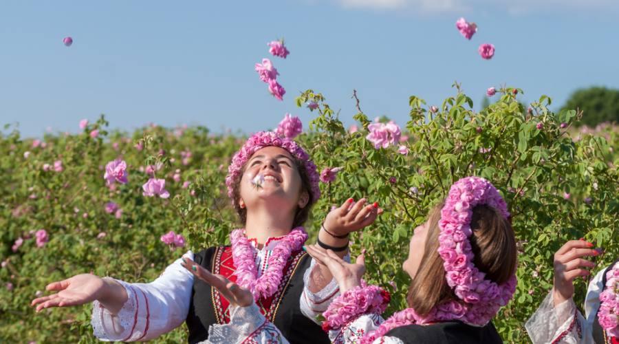 In costume per il Festival delle Rose