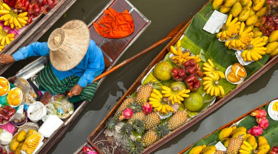 Mercati galleggianti Bangkok