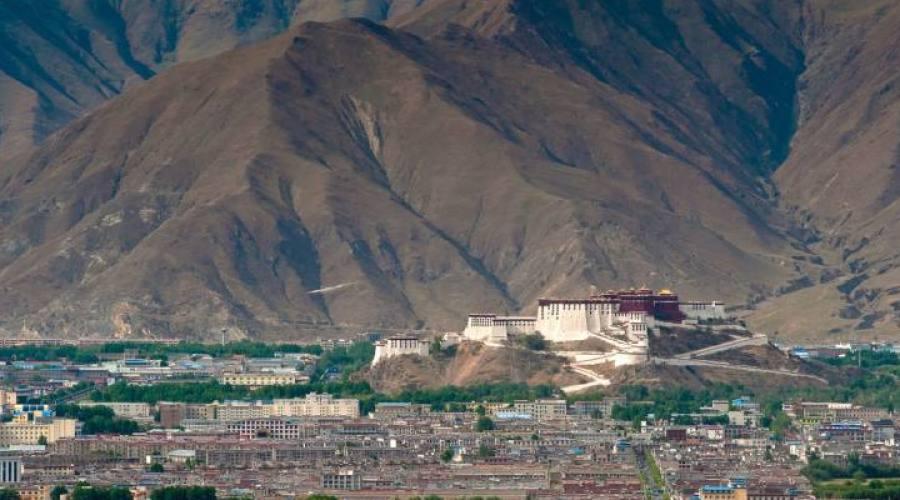 panorama tibet