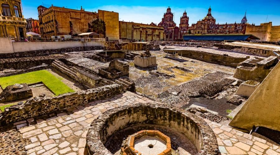 Le rovine del Templo Mayor