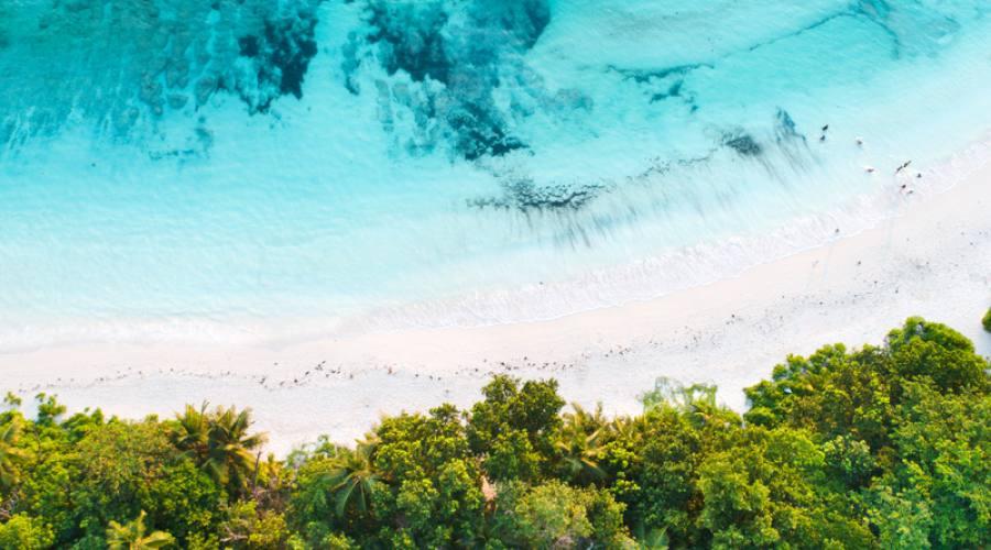 foto aerea delle Seychelles