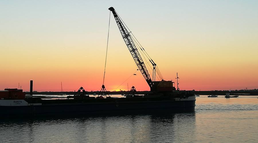 Faro, tramonto su Ria Formosa