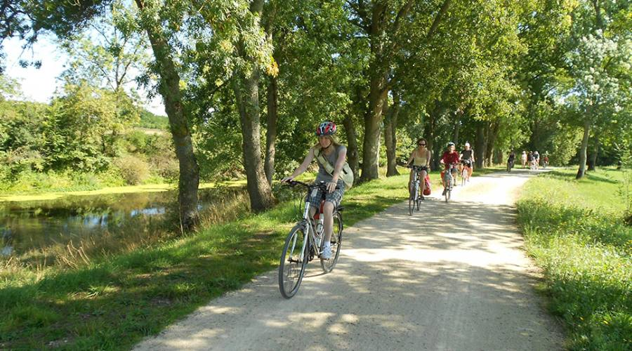 Francia, famiglia in bici